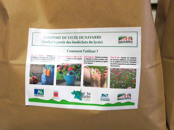 Kollvik-Recycling-compost-Lycée de Navarre bio engagé